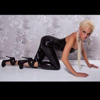 Super Sexy Damen Wetlook Lack Bandeau Overall Gr.L Art.557