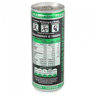 30 EUR/l) Action Green Apple Juiced Energy Drink 24x250 ml