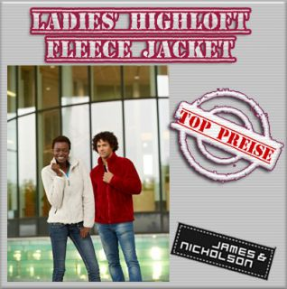 James & Nicholson ladies Highloft Fleece Jacket Damen Fleecejacke