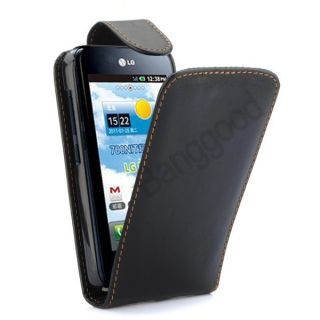Flip Leather Pouch Case Cover for LG Optimus Black P970 NEW