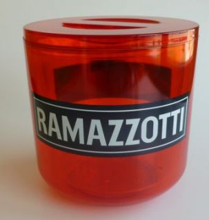 Ramazzotti Glas Gläser Eisbox Ice Bucket Neu 4 L