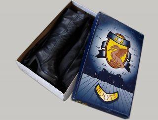 Winter Plateau Stiefel Boots Gr.38 Leder schwarz echt Lammfell Futter