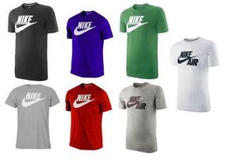 Nike Männer Herren T Shirt Futura Logo Tee Slim Fit geschnitten