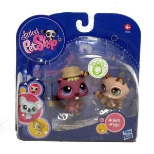 Littlest Pet Shop Duo Sammlertierchen 1409 Biber 1410 Dachs LPS