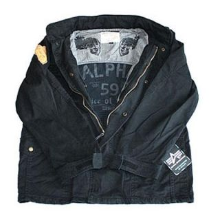 NEU Burning Skull Feldjacke Alpha Industries black 515