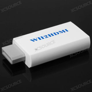 For Wii To 2 HDMI /DVI +3.5mm Audio Converter Cable NTCS480I/P PAL576I