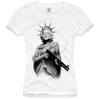 MARILYN monroe T Shirt Damen tattoo XS S M L XL XXL rockabilly star