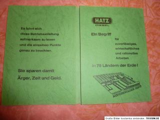Hatz Diesel Motor Betriebsanleitung E 571 E 671