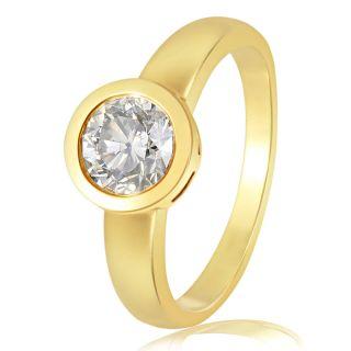 Goldmaid Collier Solitär Zarge 585 Gelbgold 1 Brillant 1,00 ct