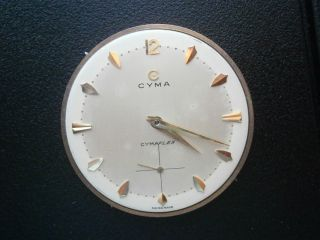 Old vintage 586K cyma cymaflex manual movement+hands+dial+ in working