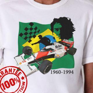 Ayrton Senna Formula 1 T Shirt F1 Racing #592