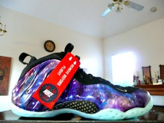 BRAND NEW NIKE AIR FOAMPOSITE GALAXY BIG BANG GLOW IN THE DARK COPPER