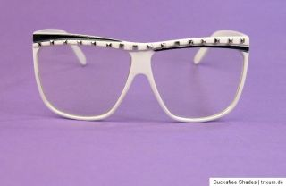 80er Jahre Nerd Brille lMFao pArTy RoCk glasses Eighties Redfoo WHITE