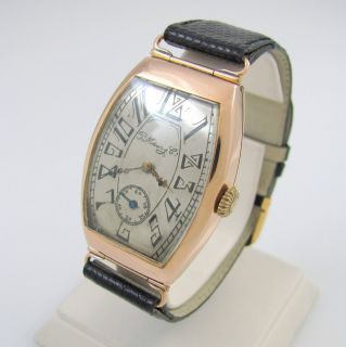 MOSER & CIE. WATCH 14K ROSE GOLD 583 Swiss Russian │RS  LXX