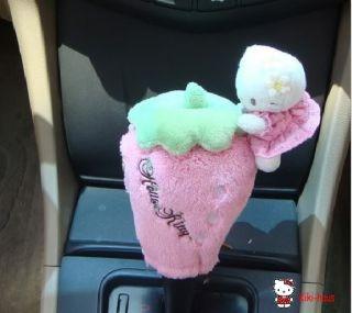 Hello Kitty Auto Schaltknauf Schalthebel Bezug Erdbeer