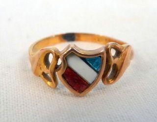 Echter Gold Ring Studenten Verbindung Wappen Gold 585 14 Karat