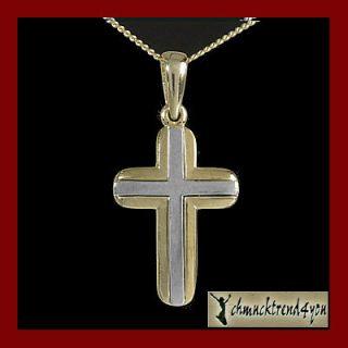 Kreuz Anhänger Gold 585 Schmuck Herren Damen Kinder Kommunion