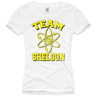 TEAM SHELDON The Big Bang Theory Damen T Shirt Vintage Cooper LEONARD