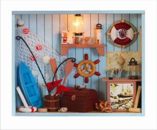 Puppenhaus Dollhouse Miniatur Seafaring Shop DIY Spielzeug Puppenstube