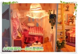 Puppenhaus Dollhouse Miniatur Sunshine Alice DIY Spielzeug Puppenstube