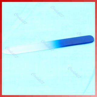 Cyrstal Glass Nail File Set Assorted Color Manicure