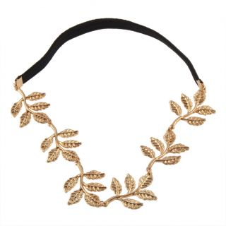 Gold Olive Branch Leaf Leaves Grecian Garland Hippy Head Hair Band