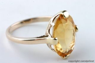 Citrinring in Gold Ring mit Citrin Zitrin