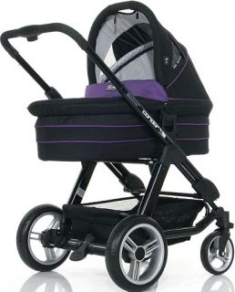 ABC Design CONDOR 4S PURPLE BLACK Kombi Kinderwagen AB GEBURT