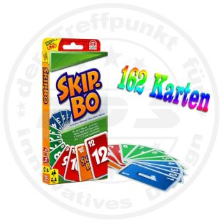 Original Mattel Skip Bo Kartenspiel Karten Spiel Familienspiel Neu OVP