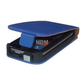 Exklusive Handytasche Nokia Lumia 610 Flip Tasche Farbe blau
