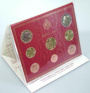 Vatikan Kursmünzensatz (orig., nom. 3,88 Euro) 2008 vz st Benedikt