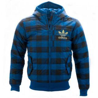Steppjacke Herren Adidas Adicolor Jacke Blau/Schwarz Größen XS S M L