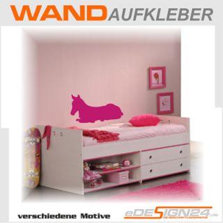 E125 Wandtattoo Wandaufkleber Sticker Aufkleber Pferde Pferd Kinder
