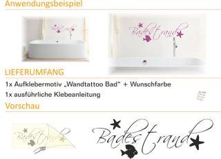 E116 Wandtattoo Wandaufkleber Sticker Aufkleber Muschel Sterne Bad