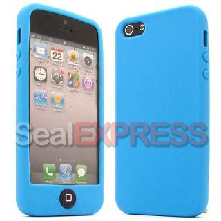 APPLE IPHONE 5 5G Silikon SOFT Case Tasche Cover SCHUTZ Hülle Etui
