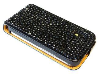 Samsung Galaxy ACE S5830 STRASS ETUI leder tasche cover hard Case