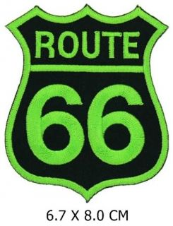 MP010G Green Route66 Supermoto Rocker Harley F1 Patch