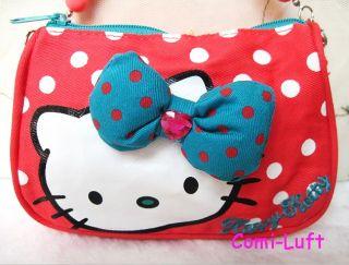 Neu Hello Kitty Handtasche Kosmetiktasche Handytasche Mit Kugel