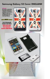 Samsung Galaxy S2 ENGLAND FLAGGE Fahne Hülle Cover Case London