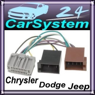Chrysler / Dodge / Jeep Radioadapter ISO Kabel #8 /639