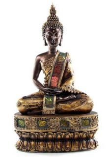 Große Thai Buddha Figur Statue sitzend meditierend 31cm