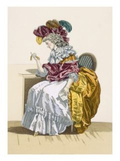 Lady Sitting Waiting for a Friend, Engraved by Dupin, Plate No.191 Giclee Print by Francois Louis Joseph Watteau