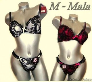 Mala BH Set BH + String  Dessous  Push up  Spitze  Cup B + C