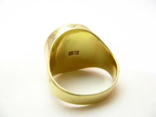 R643 585er 14kt Gelbgold Ring Herrenring mit 900er Münze Münzring 2