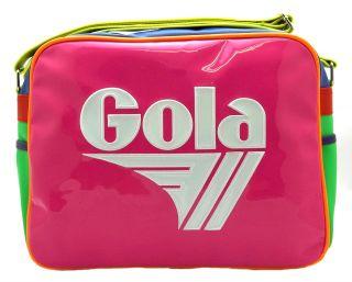 NEW GOLA REDFORD NEON PINK MULTI MESSENGER SHOULDER BAG