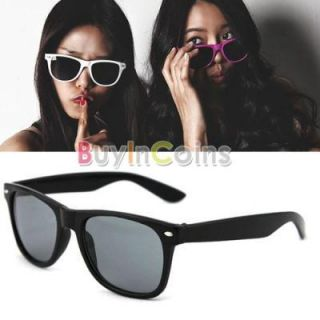 Fashion 80s Retro Style Unisex Mens Women UV400 Sunglasses Eyewear