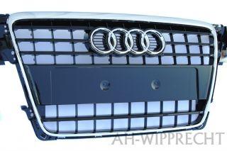Original S4 A4 Tuning Grill Gitter Audi 8K Frontgrill Chrom Schwarz