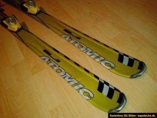 Atomic Race Carving Ski SL912 140 cm mit Bindung schwarz gold Slalom