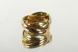 GELEGENHEIT AUS PRIVATBESITZ #675 TRINITY LES MUST CARTIER RING GOLD