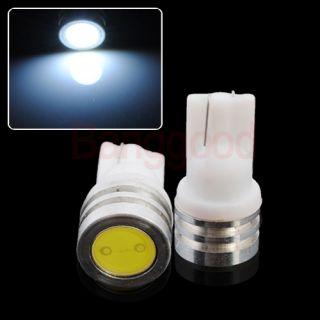 2x T10 W5W 501 Xenon White High Power SMD LED Interior Wedge Side